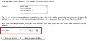 Custom Field Price Settings