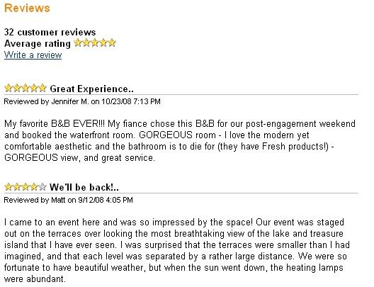 Customer reviews on WebReserv.com
