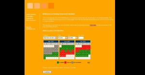 Booking calendar embedded on website