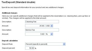 Adding a service fee to a booking