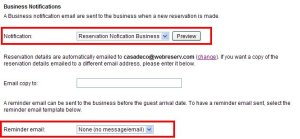 Customizing business notifications