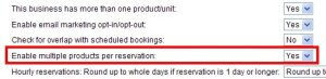 Enabling multi-production reservations in WebReserv booking system