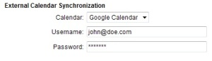 Booking calendar integration with Google Calendar
