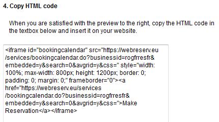 Adding a booking calendar to Weebly websites « WebReserv Blog