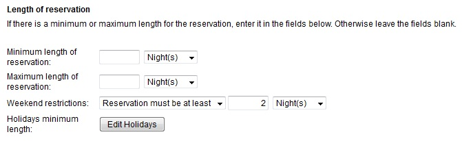 Reservation Must be at Least 2 nights