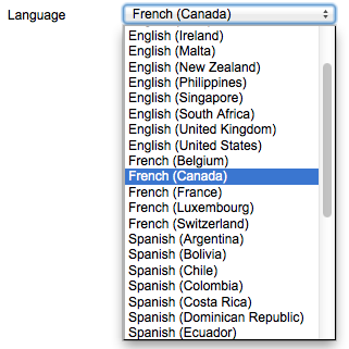 Select language for each user