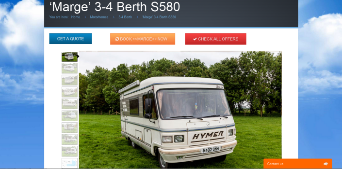 Hire a hymer Book